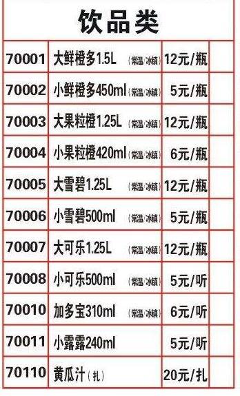 海底捞菜单价目表2017(最新)